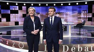 Fransa'da cumhurbaşkanı adayları canlı yayında kozlarını paylaştı