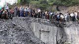شاهد: انفجار كبير في منجم للفحم بشمال ايران