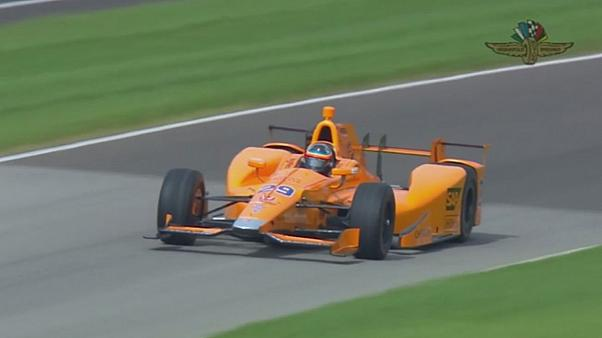 Alonso's test drive at Indianapolis