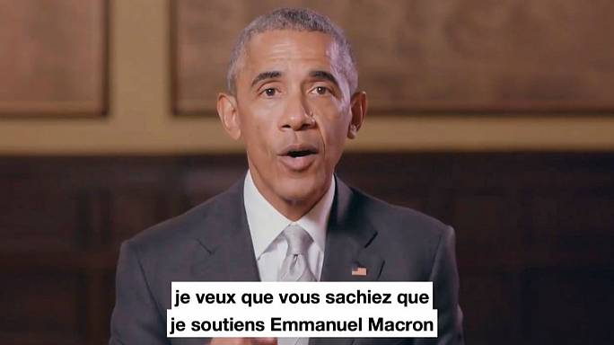 Obama backs Macron as candidate files law suit over offshore allegations