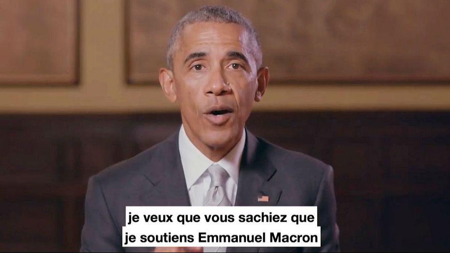 Macron erhält Unterstützung von Obama und klagt gegen Fake News