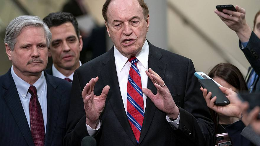 Image: Sen. Richard, Shelby, R-Ala., speaks with reporters on Capitol Hill