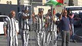 مسيرة بلباس الاسرى في بيت لحم