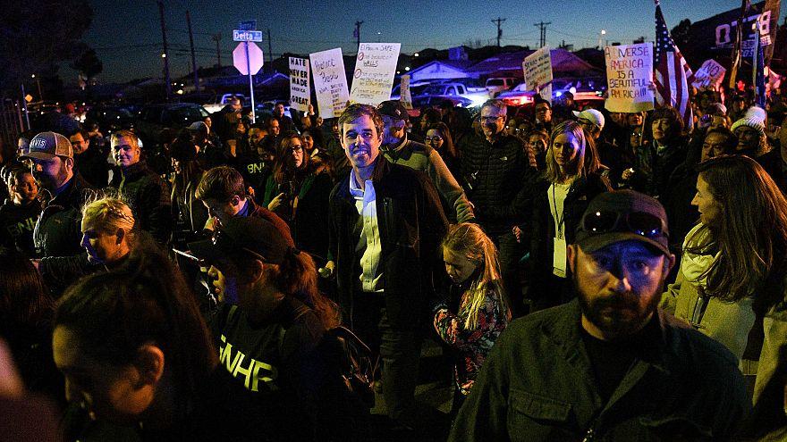 Image: O'Rourke, the Democratic former Texas congressman, participates in a
