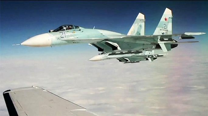 Orosz és amerikai harci gépek Alaszka fölött