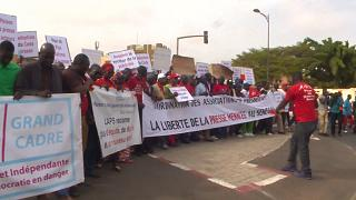 Senegal: Several journalists marched in Dakar streets for press freedom [no comment]