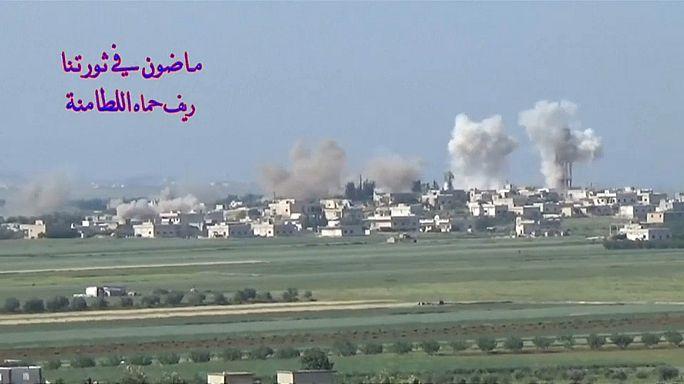 الحرب في سوريا: تواصل القصف على بلدة اللطامنة شمال حماه