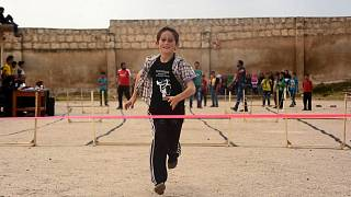 Children from Aleppo town compete in local 'Olympics'