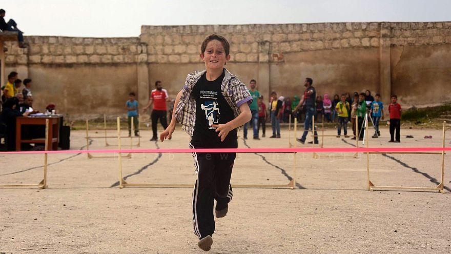 Kinder-Olympiade in Aleppo