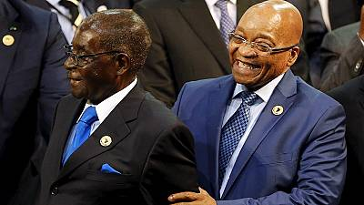 S. Africa's Zuma backs Mugabe's stance on 'highly developed' Zimbabwe