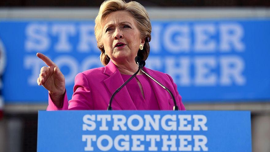 Image: US-VOTE-DEMOCRATS-CLINTON