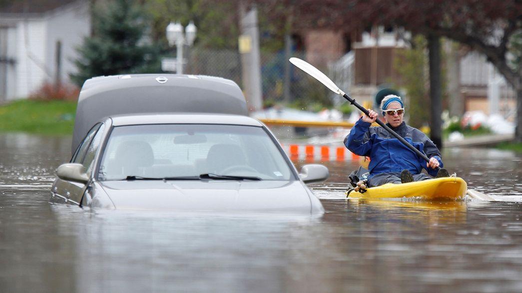 Családok százai menekülnek az árvíz elől Kanadában