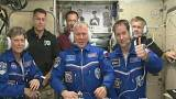 The astronaut voting from space