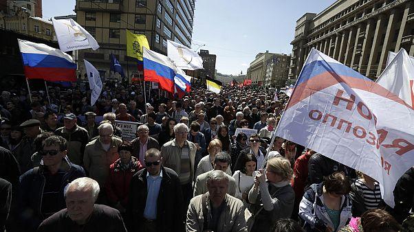 Moszkvában az emberi jogokért tüntettek