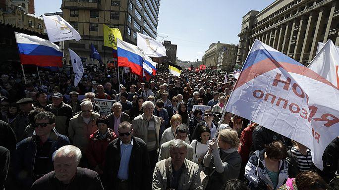 Vários detidos em manifestação no centro de Moscovo