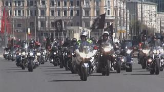 Des centaines de motards défilent à Moscou