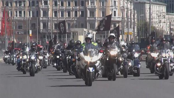Moskova'da motosiklet festivali