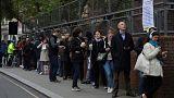 Long queues in London