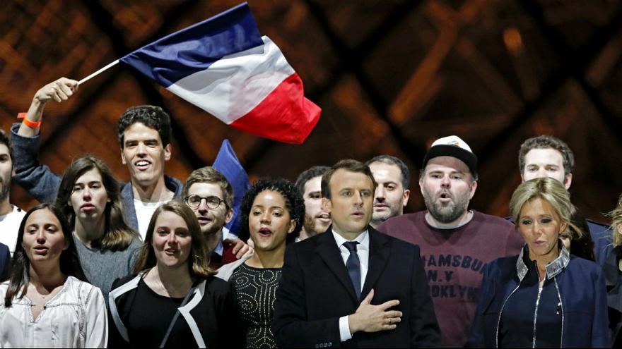 Macron will heal 'divisions' after landslide French election win