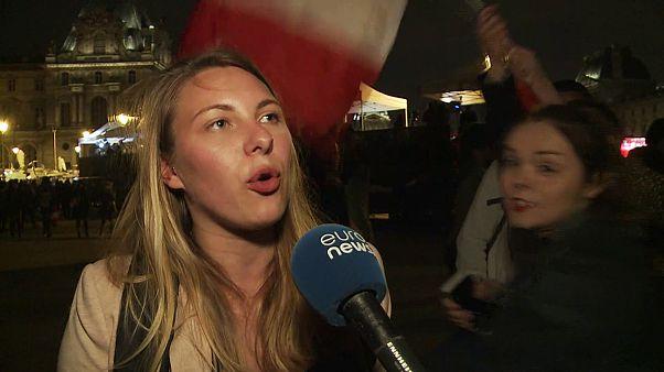 Jubel und Skepsis bei Macron-Wählern