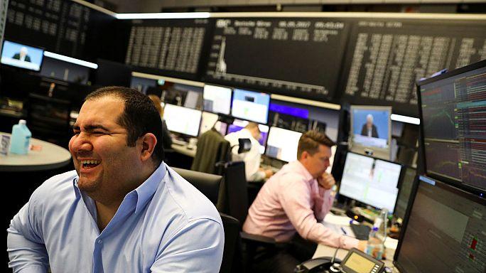 Internationale Finazmärkte reagieren erleichert auf Macrons Wahlsieg