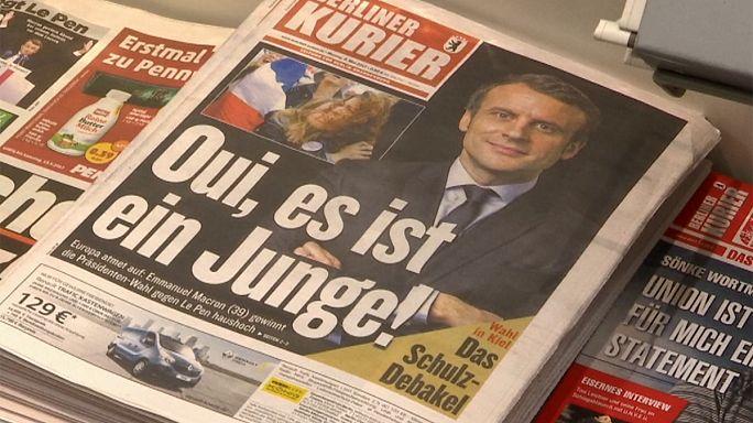 Los líderes mundiales felicitan a Emmanuel Macron