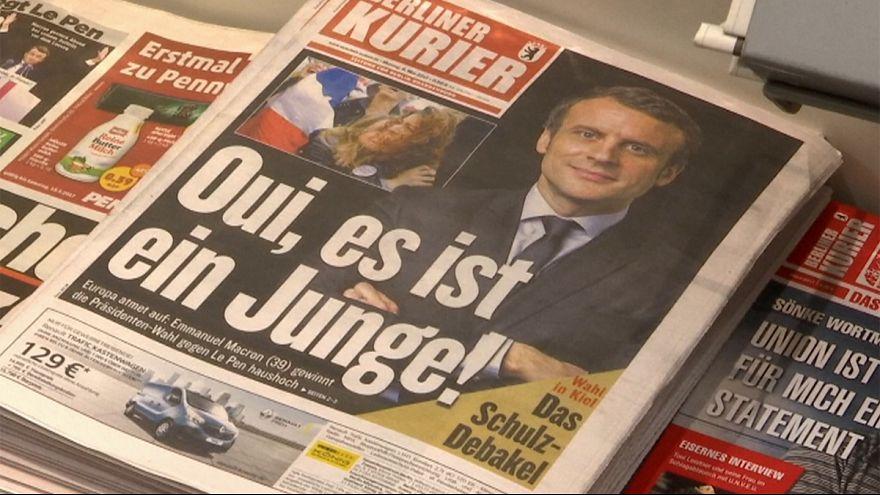 Macron'un zaferine dünya liderlerinden tebrik