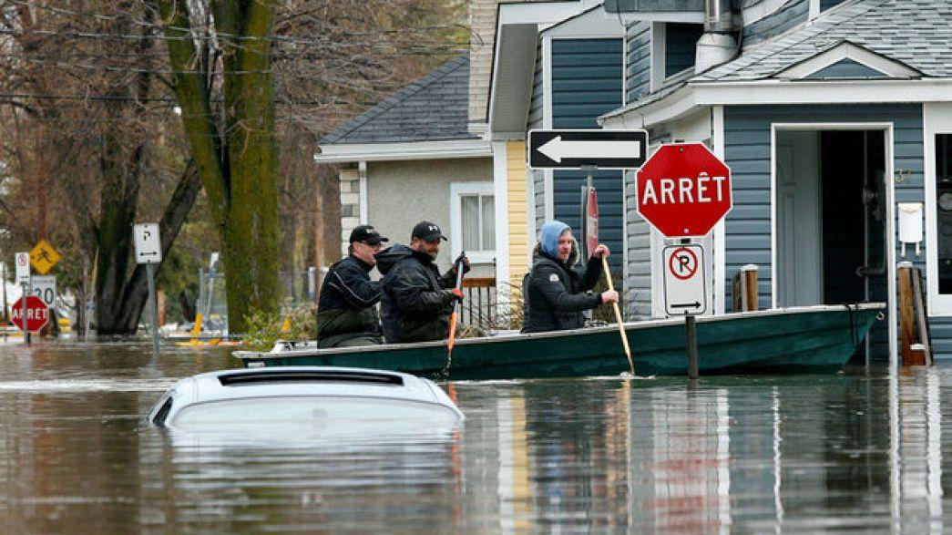 مونتريال تعلن حالة الطوارئ بعد تفاقم الفيضانات
