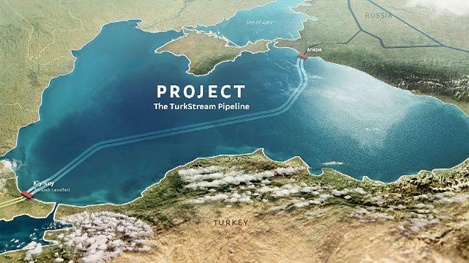 Gaspipeline Turkstream in Arbeit