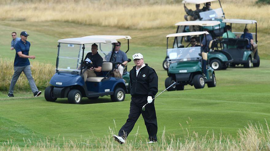 Image: Donald Trump Scotland golf trip