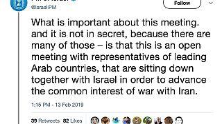 Image; Tweet by PM of Israel