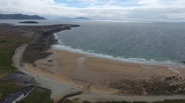 "Irish beach ""returns"" after 33-year absence"