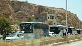 انتقال مخالفان دولت از دمشق به ادلب