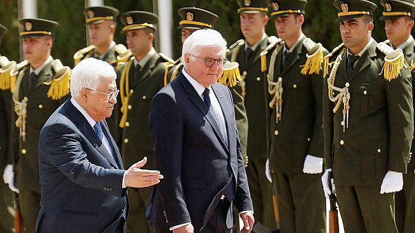 """Il presidente tedesco Steinmeier in Palestina rilancia l'opzione dei """"due stati"""""""
