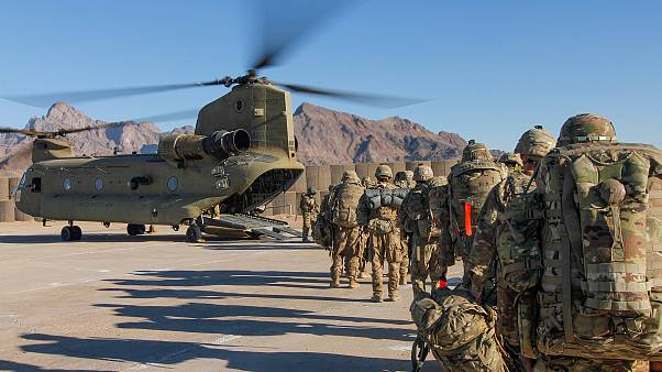 Image: Soldiers attached to the 101st Resolute Support Sustainment Brigade,