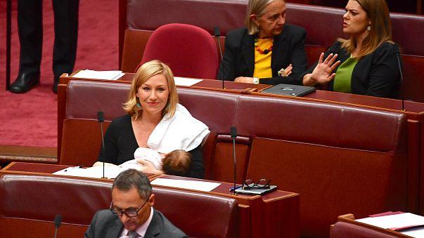 Breastfeeding first in Australian parliament
