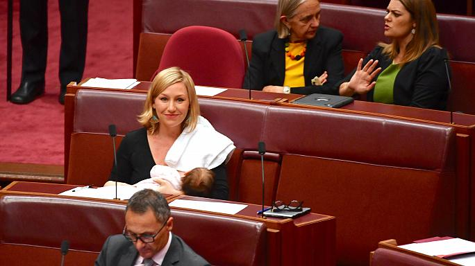 Breastfeeding first in Australian parliament