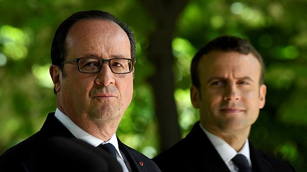 Hollande-Macron : commémoration en duo avant la passation