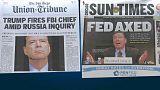 Trump defiende su polémica decisión de despedir por sorpresa al director del FBI