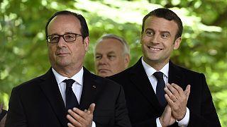 Mellettem az utódom: Hollande és Macron Párizsban