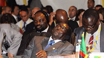 Mugabe doesn't sleep in public, in Singapore on advice of local opticians