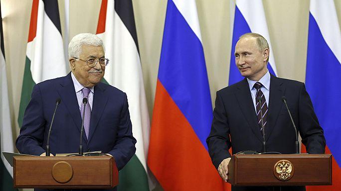 """Putin ve Abbas """"iki devletli çözüm""""ün altını çizdi"""