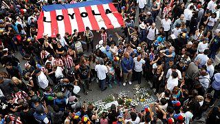 Au Venezuela, l'hommage à la dernière victime