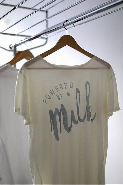 Clothing made from milk protein by Tuscany-based company, Duedillatte.