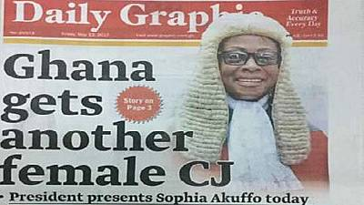 Ghana to have second successive female Chief Justice