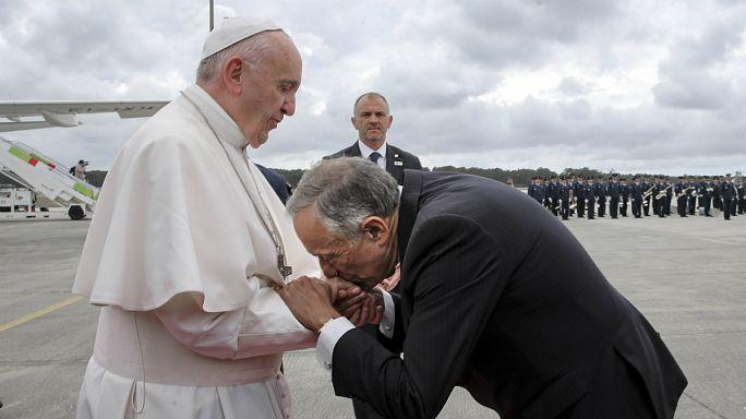 Centenário das Aparições: Presidente Marcelo recebeu Papa Francisco em Leiria