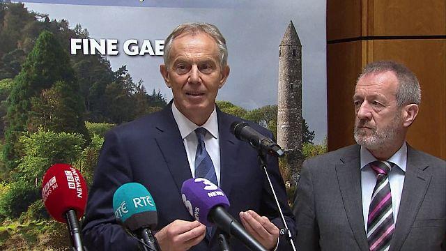 Hard Irish border would be 'a disaster', ex-UK PM Blair says