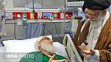 عیادت رهبر ایران از هاشمی شاهرودی