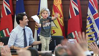 Canadian PM earns praise on Facebook as he takes 3-year-old son to work