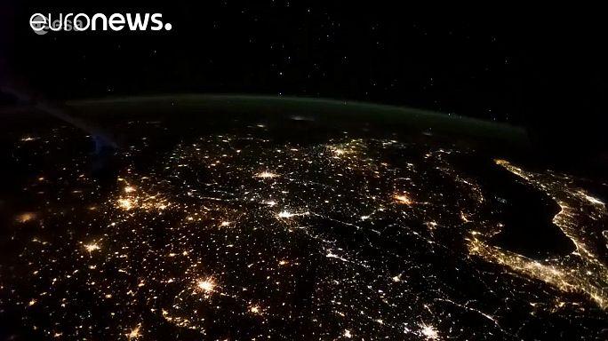 Így ragyog Európa az űrből